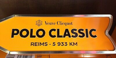 Veuve Clicquot Arrow Tin POLO CLASSIC Reims Champagne Journey Street Sign