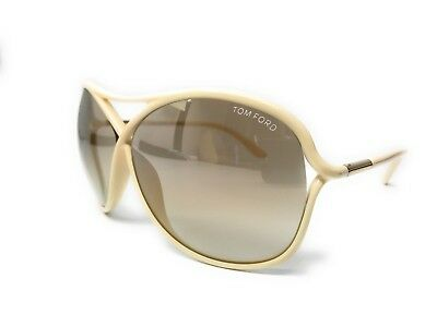 New Tom Ford Tf184 25G 65Mm Ivory Cream Sunglasses Tf 184 Ft184  W/case Vicky
