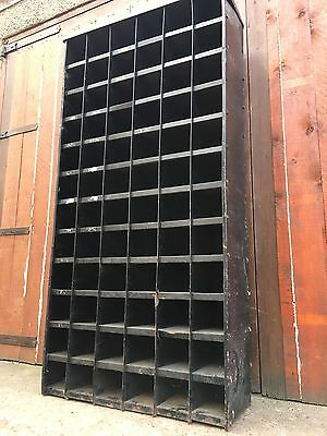 Old Vintage Antique Steel Racking Pigeon Hole Cabinet Industrial Bank Drawers
