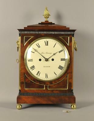 REGENCY MAHOGANY FUSEE BRACKET CLOCK -Thomas Strange of Banbury