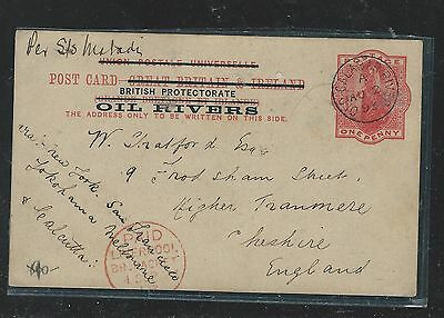Niger Coast Oil Rivers (P2709B) 1893 Qv Psc To England With Msg #1