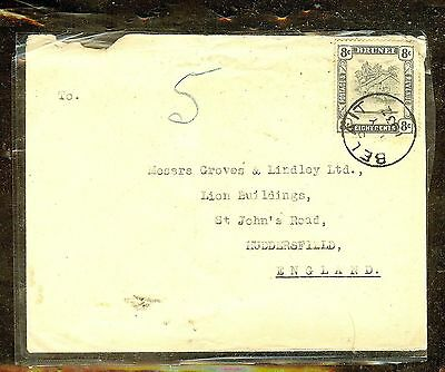 Brunei (P1106B) 1937   8C Black  Bl Single Frank On Cover To England