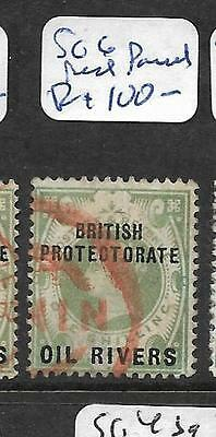Niger Coast Protectorate (P2201B) Qv 1/- Sg 6 Red Parcel Cancel  Vfu