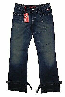 MISS SIXTY JEANS bootcut * mod. Lancelot relaxed blu 100% cotone w25 Nuovo