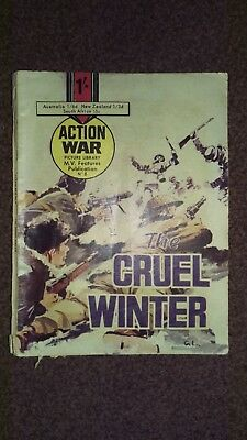 """Action War Picture Library, """"the Cruel Winter """"  Issue 8 1965"""