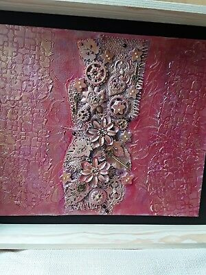 Original powertex mixed media canvas, one of a kind.