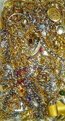 Huge Vintage To Now Junk Drawer Jewelry Lot Estate Find Unsearched Untested #722