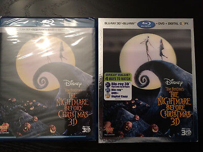 The Nightmare Before Christmas (Blu-ray/DVD, 2011, 3-Disc Set, Includes Digital