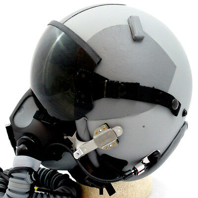 NEW HGU-GENTEX 55/P USA XL Jet Fighter Pilot Helmet M/W Edge 20/P Oxygen Mask