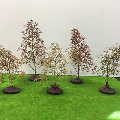Natural Precision Trees - Seafoam Model Scenery Railway Wargame With Base Woods