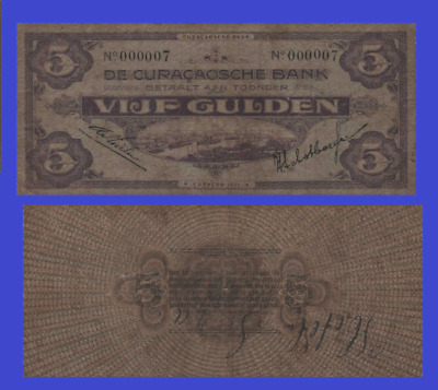 Curacao 5 gulden 1935. UNC - Reproduction
