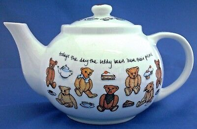 "Paul Cardew Design Teddy Bear Teapot Called ""Teddy Bears Picnic"" 2007"