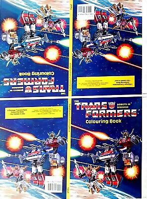 Original Transformers Colouring Book Cover - Printed Sheet. 1987. Comics. As New