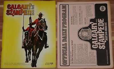 1973 CALGARY STAMPEDE PROGRAM 100th ANNIVERSARY ROYAL CANADIAN MOUNTED POLICE