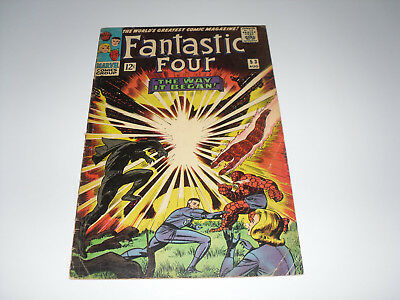 Fantastic Four 53 : G/VG  : Origin & 2nd appearence of The Black Panther