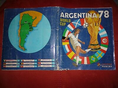 Panini Album Argentina 78 World Cup  Full Complet 100 % 1978 Original
