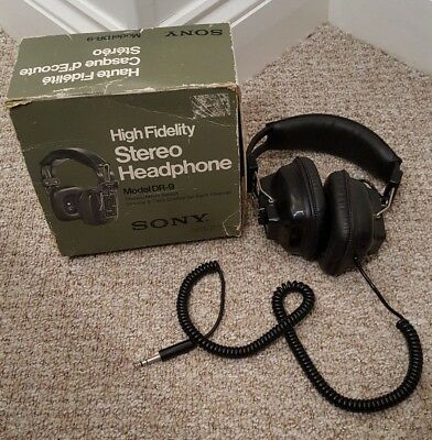 Original Boxed Vintage Sony DR-9 High Fidelity Stereo Headphones  Tested