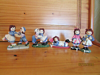 5 Raggedy Ann and Andy limited edition figurine