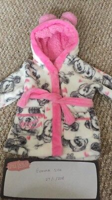 Minnie Mouse Dressing Gown Age 3-6 months would fit up to 9months maybe even 12m