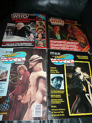 DOCTOR WHO magazine x 4 Issues 93, 146, 164 and Winter Special.