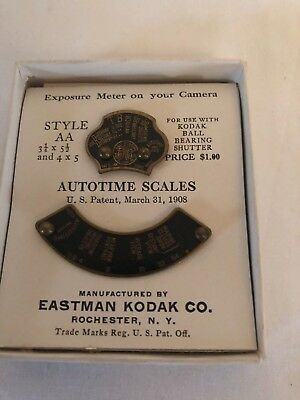 Replacement scales for Kodak cameras, approx 1913. AA for ball bearing shutter