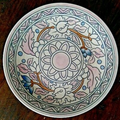 Art Deco Crown Ducal signed Charlotte Rhead wall plate design no.5983