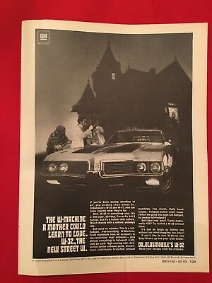 1969 Oldsmobile W32 442 Original Advertisement March 1969 Hot Rod