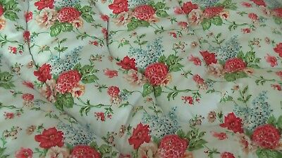 VINTAGE FEATHER FILLED EIDERDOWN WITH SAME DESIGN BOTH SIDES -L165/W110cms
