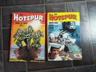 The Hotspur Book For Boys 1971 & 1972 Annuals
