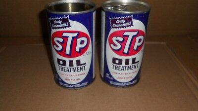 Vintage Lot of 2 STP Oil Treatment 15 Ounce Cans Metal Cans
