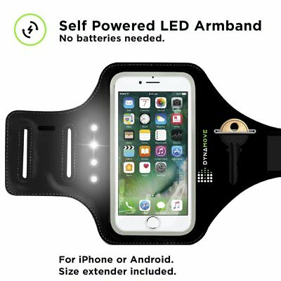 Running Armband Powered LED with Fingerprint Touch ID Support Key-Holder Iphone