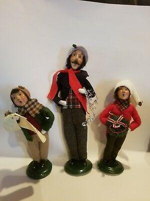 Byers Choice Ltd - The Carolers 1999 - Lot Of 3 Father and Children