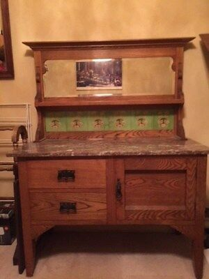 Dresser Art Deco Solid Oak