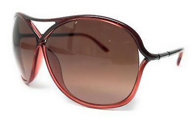 New Tom Ford Tf184 50F Vicky 65Mm Red Gradient Sunglasses Tf 184 Ft184 W/case