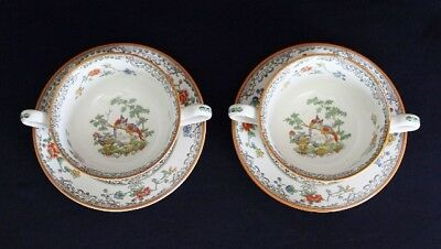 Vintage Pair Of Copeland SPODE SOUP Cups EDEN PATTERN