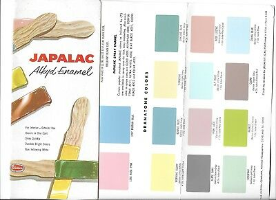 Vintage  Japalac Alkyd Enamel Paint Brochure * Color Swatches *