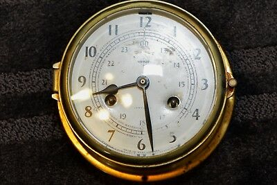 "Antique ""Swift"" brass ship clock"
