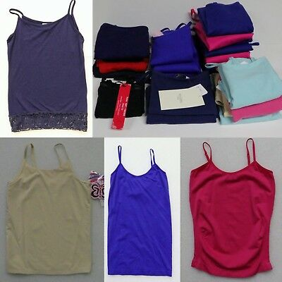 BOUTIQUE CLOSEOUT LOT of 23 TANK TOPS SPAGHETTI STRAP CAMI GIRL'S SIZE 7-16 NEW