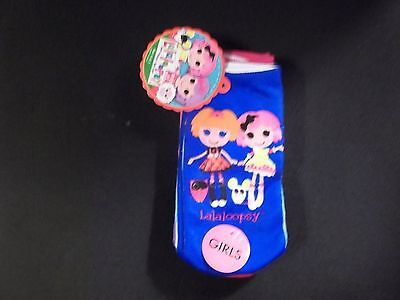 NWT Lalaloopsy Girls Socks-4 Pairs-Size 6-8.5-Different Designs Every Pair