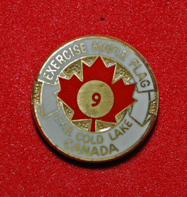 VINTAGE 1970s INTERNATIONAL FIGHTER EXERCISE MAPLE FLAG 9 CFB COLD LAKE 1975 PIN