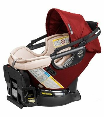 Orbit Baby G3 Infant Car Seat + Car Seat Base - Ruby / Khaki