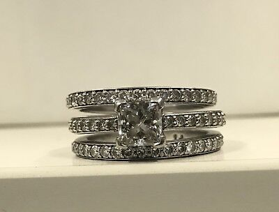 Platinum & Diamond Engagement Ring Set