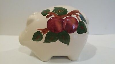 Franciscan Apple Piggy Bank (chip in opening)