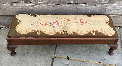 Antique Victorian Long Footstool