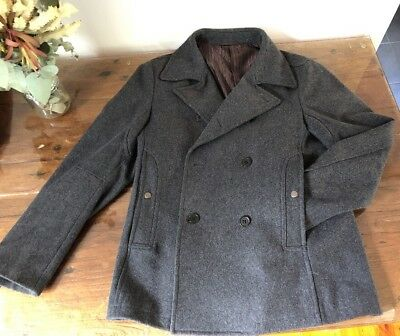 Bossini Coat Mens L Charcoal Great Condition