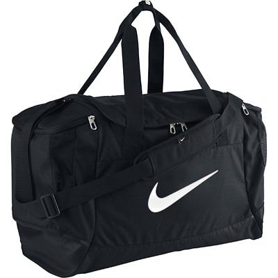 Nike Club Team Swoosh Duffle Bag Sports Gym Travel Bags Duffel Holdall Black S M
