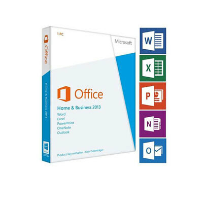 MICROSOFT OFFICE HOME AND BUSINESS 2013 Product Key Card + DVD