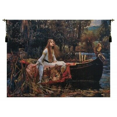 Lady of Shalott Belgian Tapestry Wall Hanging