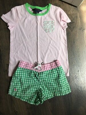 Ralph Lauren Polo Girls Shirt Size 6  Shorts Size 5 Excellent Condition