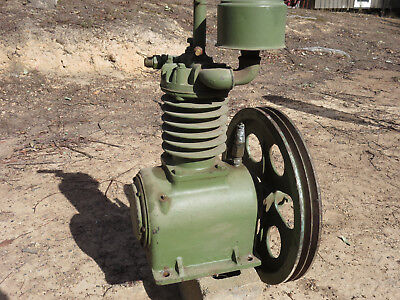 Large air compressor Twin Vee pulley Good working condition Suit home or factory
